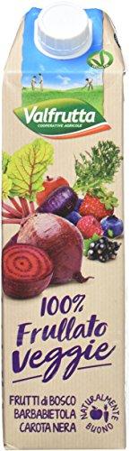 Valfrutta Jus de Fruits/Légumes Veggie Fruits Rouges Betterave/Carotte Noire 1 kg - Lot de 3