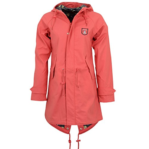 derbe Hamburg Damen Regen-Mantel Travel Friese Sun Rose - 40