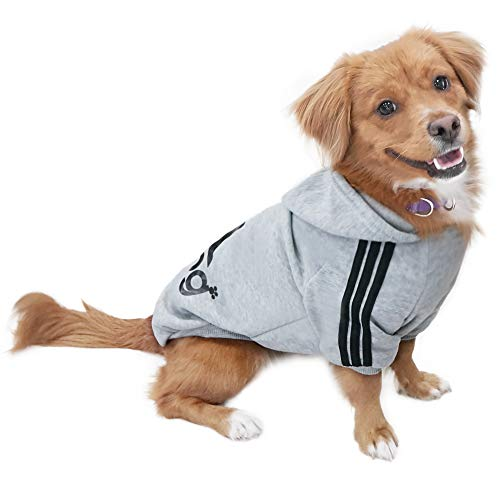 Eastlion Hund Pullover Welpen-T-Shirt Warm Pullover Mantel Pet Kleidung Bekleidung, Grau, Gr. XL