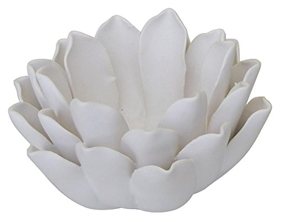 発生器ジュースあからさまマルエス 燭台 陶器製 ロータス 小 ホワイト