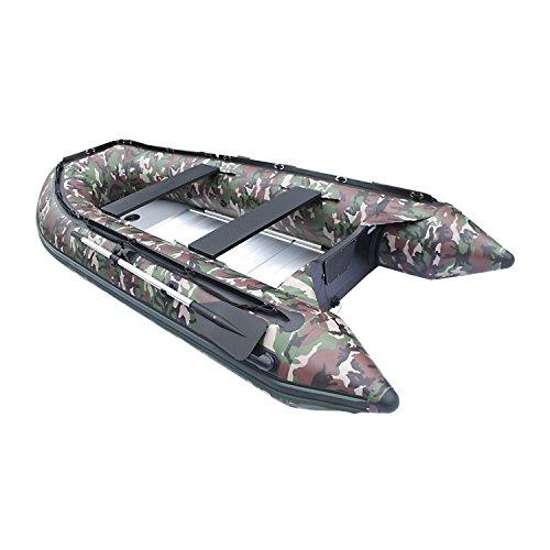 Best Price ALEKO BT380CM 12.5 Foot Inflatable Boat with Aluminum Floor Heavy Duty Design 6 Person Ra...
