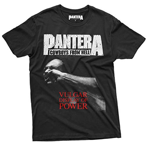 Pantera - Vulgar Display of Power - Cowboys from Hell T-Shirt Official Licensed Uomo, Small, Nero
