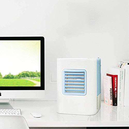 Ruisan Personal Compact Portable Single-Frond Air Acondicionador Acondicionado Evaporativo enfriadores Evaporativos con Deshumidificador y Ventilador Aire Sin Agua