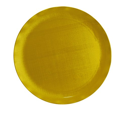 Yanco CAT-1016G Catering Round Plate, 16' Diameter, Melamine, Gold Color, Pack of 6
