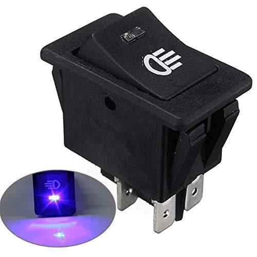 N\\A Elektro-Master-Schalter für Fensterheber LED-Schlag-Armaturenbrett-4-pin Universal-Auto-Boot-Van Nebelscheinwerfer Wippschalter Master-Schalter für Fensterheber Steuer (Farbe : Blue)
