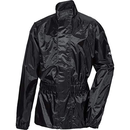 DXR Regenjacke, Regenschutz, Fahrrad Regenbekleidung Textil Regenjacke 1.0, Regenjacke wasserdicht, Unisex, wasserdicht durch verschweißte Nähte, inklusive Mini-Packsack, Polyester, Schwarz, L