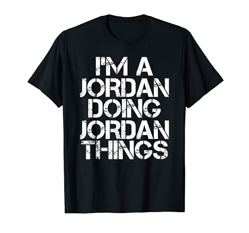 JORDAN Divertida idea de regalo para el apellido del árbol genealógico de cumpleaños Camiseta