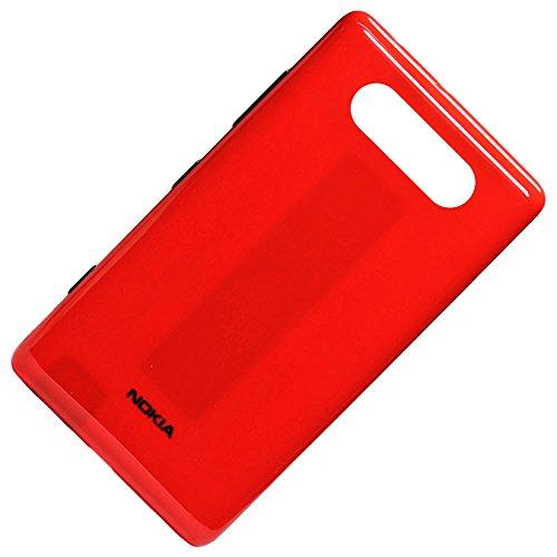 Nokia Lumia 820 - Copribatteria originale con antenna NFC rosso + modulo antenna
