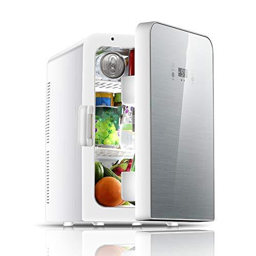 HALIGHT 22 litros Mini refrigerador, AC/DC refrigerador y Calentador portátil con Pantalla Digital y Control Temperatura, para Dormitorio, Oficina, Cuidado de la Piel, medicamentos, Leche Materna