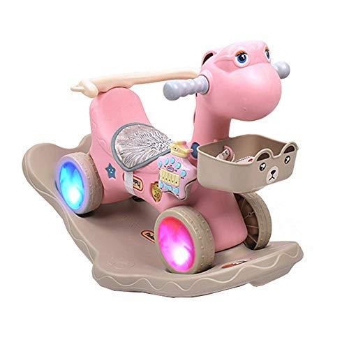 CANDYANA Ride on Animal Rocker Rocking Horse Animal Horse Plastic Child Ride on Toy con función de...