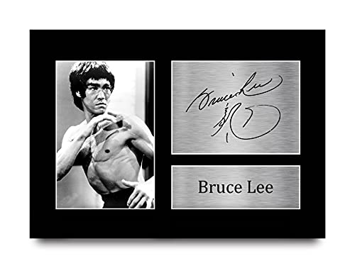 HWC Trading Bruce Lee Signed A4 Printed Autograph Martial Arts Enter The...
