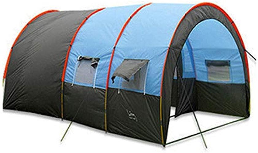 WOOLIY Imperméable Portable 8-10 Personnes Voyage Camping Randonnée Double Couche Oxford Tissu De Haute Résistance Tente Extérieure