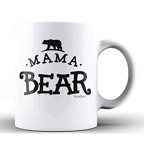 Shop4ever Mug For Mom ~ Mama Bear Ceramic Coffee Mug Tea Cup ~ Mothers Day Gifts From Daughter Son Husband