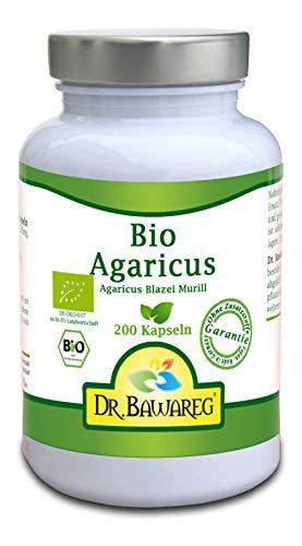 BIO Agaricus (ABM) - 200 Vegi-Kapseln - ohne Zusatzstoffe - Dr. Bawareg