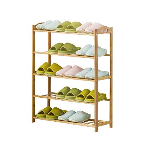 Jkckha Calzado minimalista moderna estante de madera del zapato de almacenamiento despacho de casa dormitorio económica multifunción de cinco capas estante zapatero zapato sólido 70x25x88cm Adecuado p