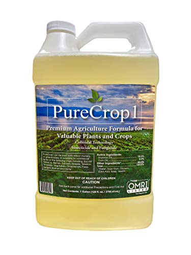PureCrop1 Organic Agriculture Concentrate | Insecticide, Fungicide | Eliminate Pests, Molds and Mildews on Plants | Safe for use Around Kids, Pets, and Bees | 128 Ounces