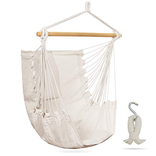 Wise Owl Outfitters - Homebody Hammock Chair Swing - A Comfortable Adult Bedroom Hanging Chair - Indoor and Outdoor Hammock Seat Perfect for Swinging with Children or Adults