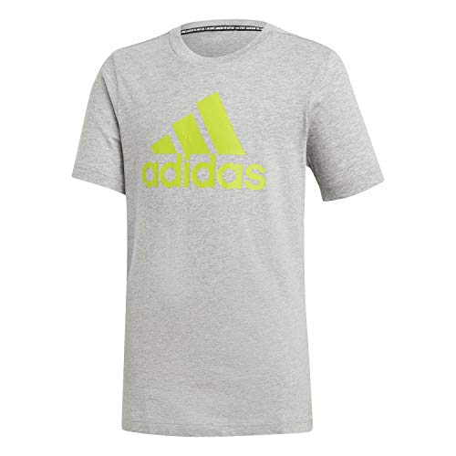 adidas YB MH BOS T T-Shirt Bambini, Brgrin/Seliso, 140 (9/10 Anni)