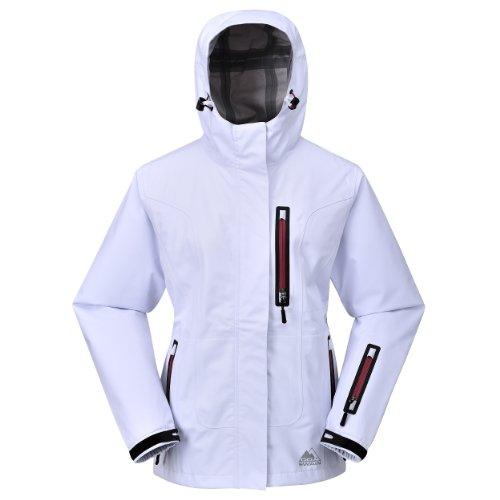 Cox Swain Damen 3-Lagen Hardshell Outdoor Jacke Lisa 8.000mm Wassersäule 5.000mm atmungsaktiv, Colour: White, Size: M