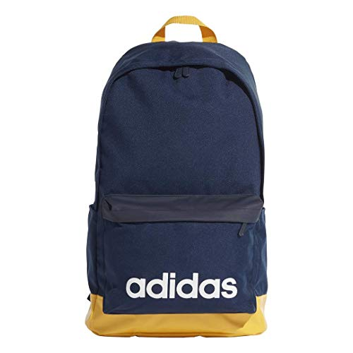 adidas EI9881 Adult Linear Classic Backpack Extra Large NS, Collegiate Navy/Active Gold/White