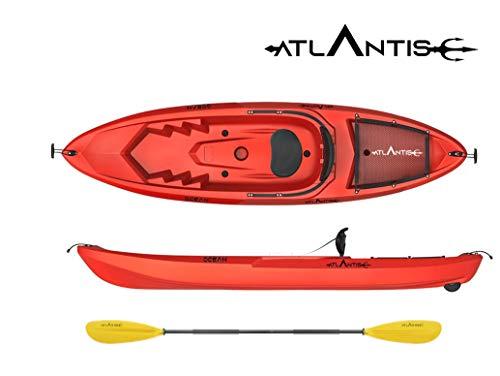 ATLANTIS Kayak - Canoa Ocean Rossa - Pagaia + seggiolino + ruotino