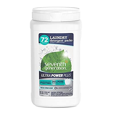 Seventh Generation Laundry Detergent Packs, Free & Clear - 90 loads (2 pouches, 45 ea)