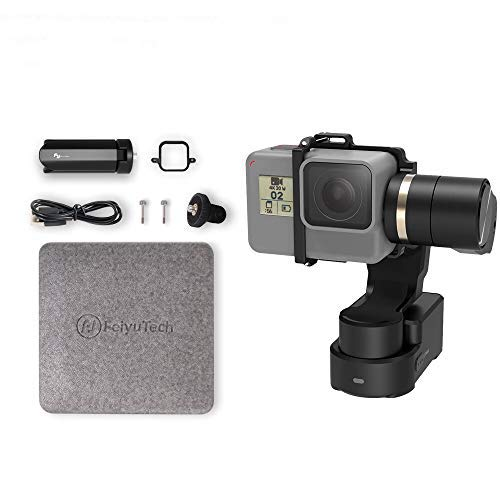 FeiyuTech WG2X 3-Axis Camera Gimbal Stabilizer for GoPro Hero 8(Fixture)/7/6/5/4, DJI Osmo Action, AEE, SJCAM Sports Cams Action Camera Wearable Stabilizer Gimbal
