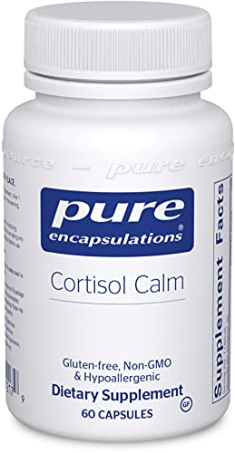 Pure Encapsulations Cortisol Calm | Supplement to Support Relaxation and Restful Sleep During Times of Occasional Stress* | 60 Capsules
