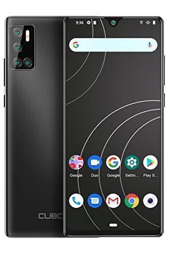 CUBOT P40 Smartphone ohne Vertrag, Handy 4GB RAM/128GB, 6.2 Zoll Bildschirm, 4200mAh Akku, Android 10, Vier Kamera, 256GB Erweiterbar, 4G Dual SIM,Schwarz