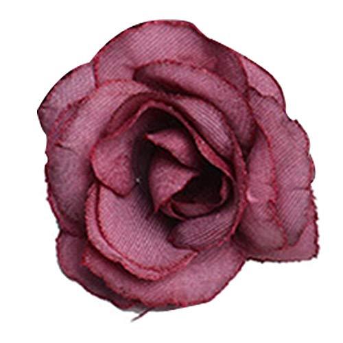 NIDONE Falso Rose De Seda Cabeza De Flor Artificial para Bricolaje Boda Ramos Partido Casero Centros De Decoración Roja