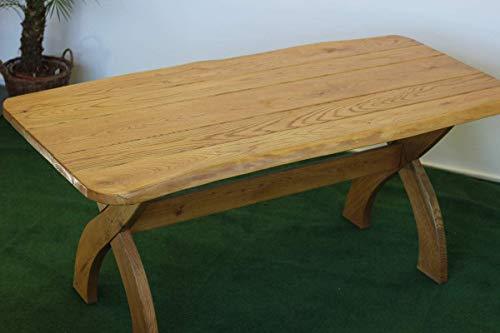 Tisch Waidmannsheil 180cm I Tisch aus massiver Eiche | Made in Germany | Gartenmöbel oder Parkbank I Holztisch I Massivtisch I Outdoormöbel