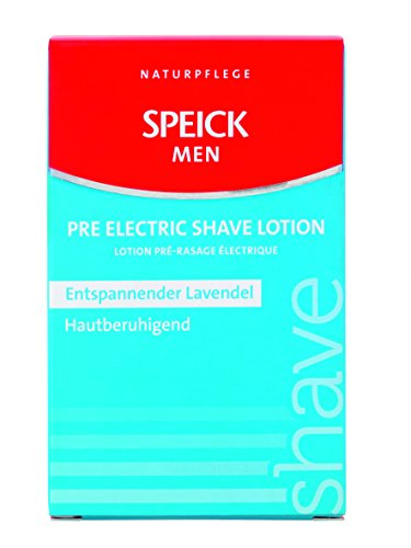 Speick Men Pre Electric Shave Lotion with Relaxing Lavender Oil and a Blend of Essential Oils, Natural Vegan Skin Care, 3.4 Fluid Ounces