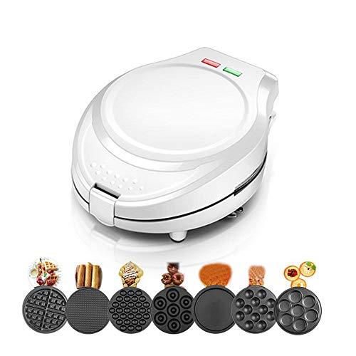 Multifunktions-Waffeleisen für individuelle Portionen, Donut, Sandwich, andere zum Mitnehmen, Frühstück, Mittagessen oder Snacks, mit Easy Clean, Antihaft-Seiten,White