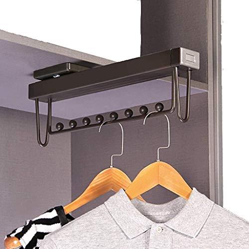 SYHmlxd KleiderBaum Kleiderständer Adjustable Garderobe Kleiderbügel Schiene Ausziehbare Schrank Laden Capacityup Organizer Regallager ABS-Kunststoff Maximale Nutzung (Color : Brown, Size : 460mm)
