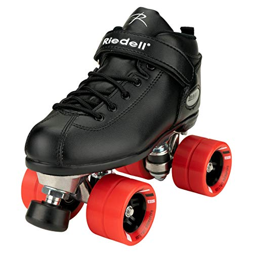 Riedell Skates - Dart - Quad Roller Speed Skates | Black | Size 9
