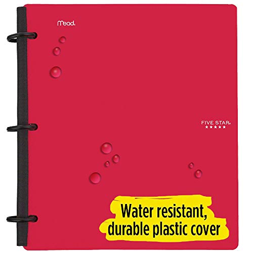 Five Star Flex Hybrid NoteBinder, 1-1/2 Inch Binder with Tabs, Notebook and 3 Ring Binder All-in-One, Red (72399) Photo #3