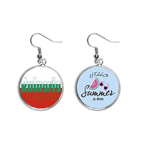 Bulgarien Landesflagge Name Ohr Tropfen Sommer Wassermelone Ohrring Wear