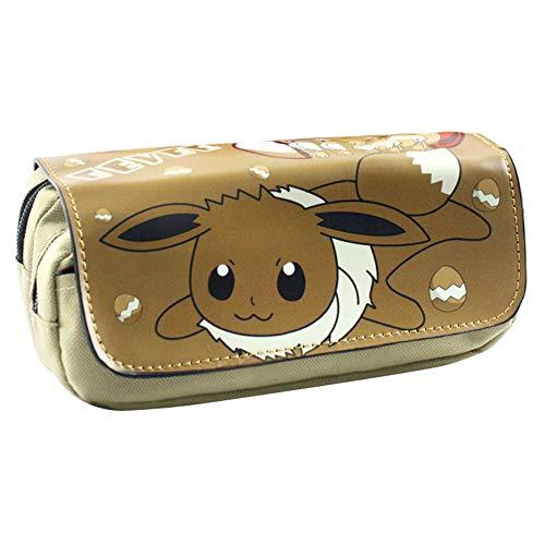 Pokemon Estuche de Lápices Bolsas de Almacenamiento de Alta Capacidad for Estudiantes con Estuche for lápices con Cremallera Bolsa de lápices con Estilo (Color : A08, Size : 20 X 9 X 6.5cm)