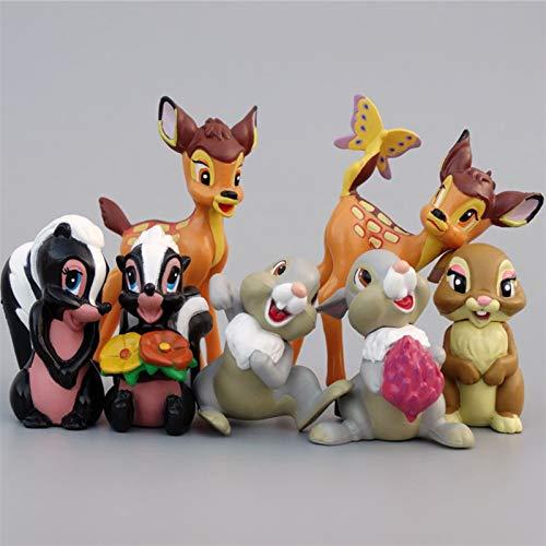 YSJJUSZ Figur 7 stücke Spielzeug PVC Action-Figuren Kaninchen Figur Eichhörnchen Modell Anime Puppen Kinder (Color : NO Box)