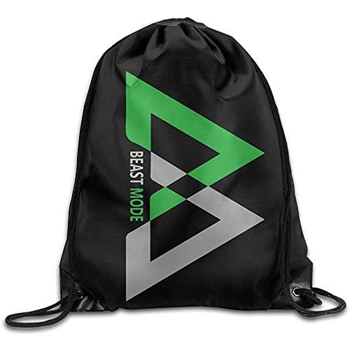 Kreatives Design Beast Mode Logo Marshawn Lynch # 24 Fußball Kordelzug Rucksack Sporttasche Für Männer Und Frauen
