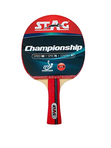 STAG Championship ITTF Approved Rubber Intermediate Table Tennis Racquet (Multicolour , 172 grams )