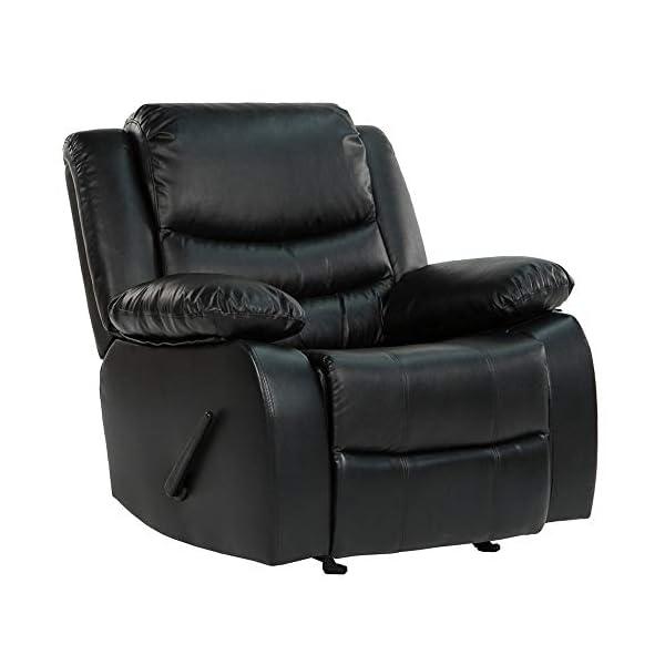 Casa Andrea Milano llc Rocker Recliner Living Room Chair in Bonded Leather
