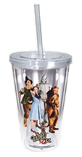Spoontiques Wizard of Oz Acrylic Cup with Straw, One size, Clear