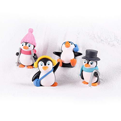 4 Pcs Figur Gartendeko Deko Figuren, Vier Kleine Pinguine Tischdekoration, Zuhause Dekoration Wohnaccessoires Geschenk