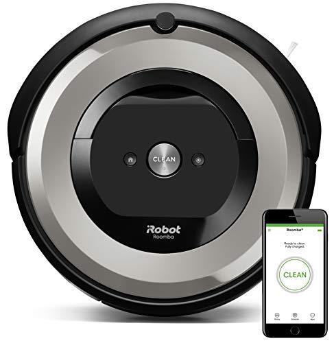 iRobot Roomba e5154 - Robot Aspirador Óptimo Mascotas, Succión 5 Veces Superior, Cepillos de Goma Antienredos, Sensores Dirt Detect, Suelos Duros y Alfombras, Wifi, Programable App, compatible Alexa