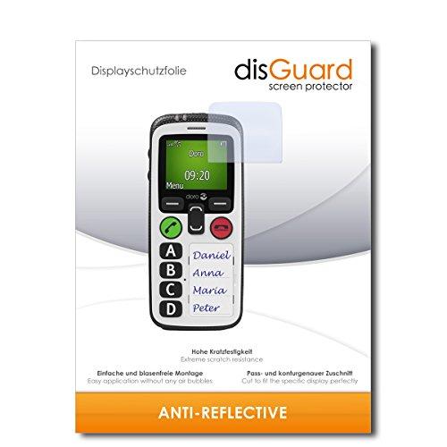 disGuard® Bildschirmschutzfolie [Anti-Reflex] kompatibel mit Doro Secure 580 IP [2 Stück] Entspiegelnd, Matt, Antireflektierend, Extrem Kratzfest, Anti-Fingerabdruck - Panzerglas Folie, Schutzfolie