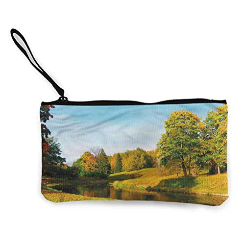 Paysage Zipper Coin Pouch Zipper Storage Case Cosmetic Bags Mountains Forest Scenic