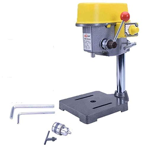 Auoeer 220V 450W Drill Press Mini Drilling Machine Radial Drilling Machine for Bench Machine Table Bit Drill Chuck Woodworking Tools