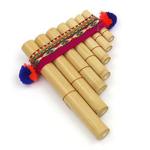 Fair Trade Peruvian Pan Pipes - Percussion Easy to Use Wind Instruments (Mini) Mainly decorative