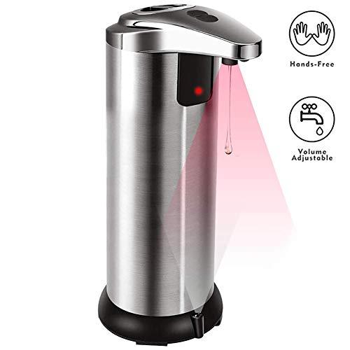 Yangliu Zeepdispenser,roestvrij Staal Automatische Sensor Wassen Telefoon Infrarood Sensor Handenvrije Zeepdispenser 250ml Geschikt Voor Keuken, Badkamer